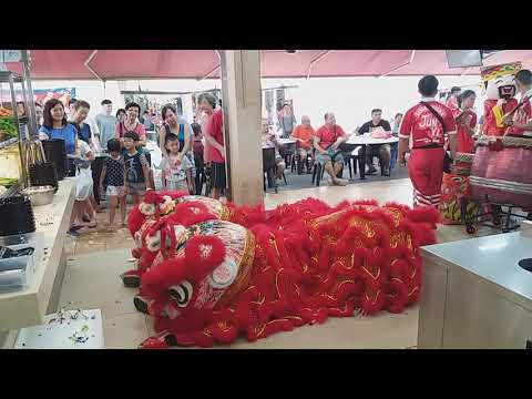 Singapore Jun Yi Drums & Lion Dance Cai Qing Performances at AMK BLK 226 Shop Opening on 20/4/19