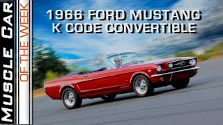 1966 Ford Mustang 289 K Code Convertible Muscle Car Of The Week Video Episode 238 V8TV