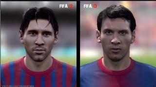 FIFA 12 vs FIFA 13: Player Faces (Barcelona Player Faces FIFA 13 and FIFA 12 Comparison)