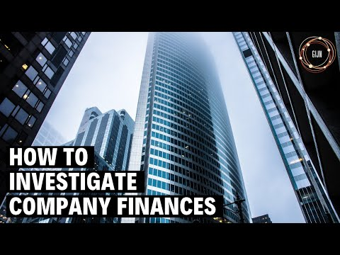 Investigating Company Finances (Webinar)