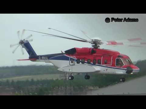 Offshore Helicopters Landing Departing EGPD ABZ DYCE Aberdeen  FULL HD
