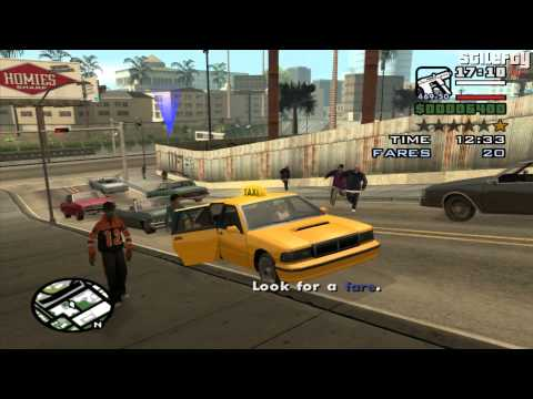 GTA San Andreas - Taxi Driver [50 Fares]