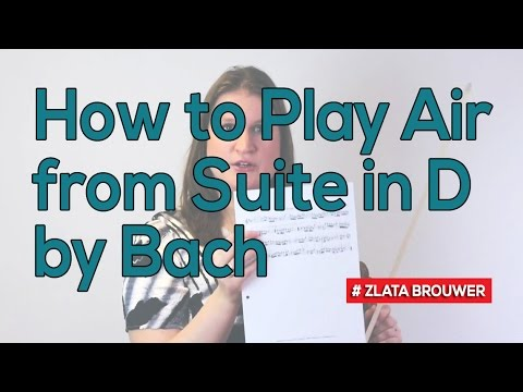 How to Play Air from Suite in D  Bach  Violin & Viola TV #207
