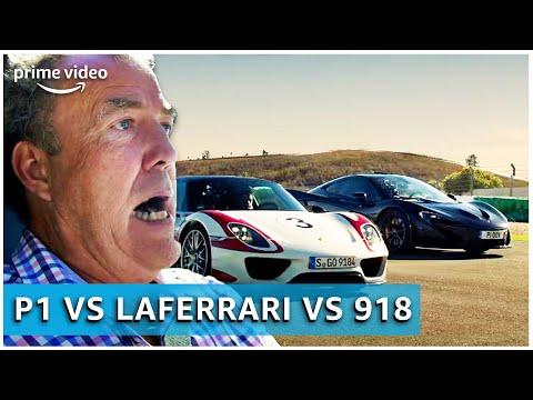 Porsche 918 vs. Ferrari LaFerrari vs. McLaren P1 | The Grand Tour | Amazon Prime Video NL
