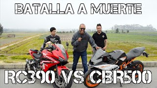 BATALLA A MUERTE | RC 390 VS CBR 500 | DRAG RACE #FULLGASS