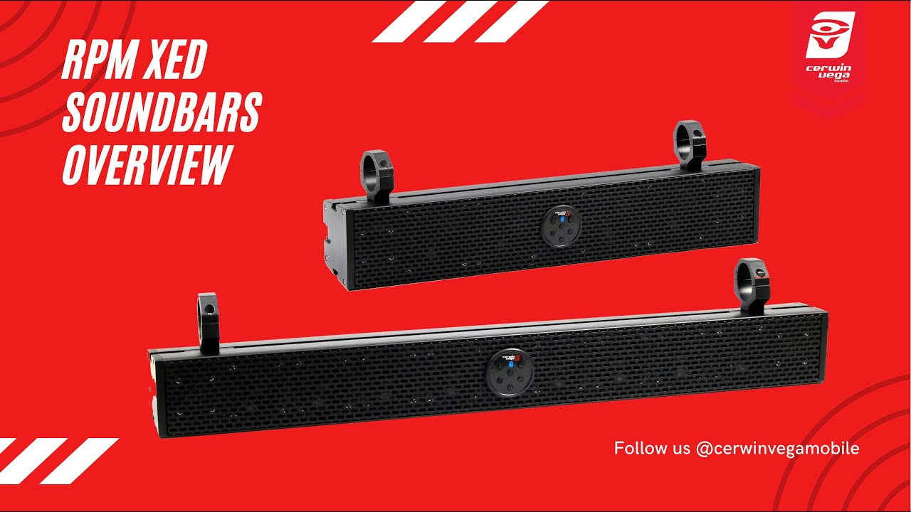 Cerwin-vega Mobile RPMSB3X XED Series RPMSB3X 400-Watt Soundbar 250
