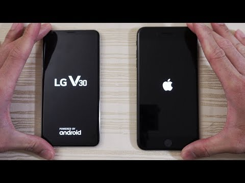 Download Youtube: LG V30 vs iPhone 8 Plus - Speed Test! Is the iPhone 8 Slow?! (4K)