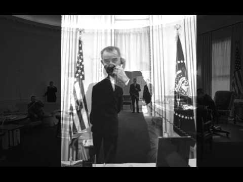 LBJ and Hubert Humphrey, 11/24/66. 9.40A. 1 of 2.