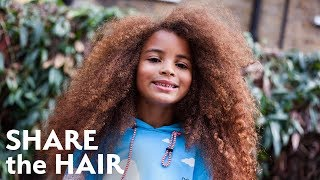 Model's Natural Afro Hair Gets An Epic Restyle | SHARE THE HAIR
