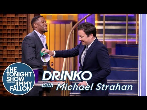 Drinko with Michael Strahan