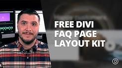Free Divi FAQ Layout Pack