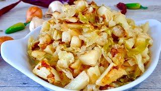 Как правильно и вкусно жарить картошку с капустой Жареная картошка с секретом Рецепты от MarMari