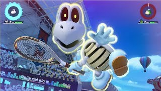 Mario Tennis Aces | First Look at Dry Bones [Tartosso【カロン】] May Character in Flower Cup - ITA