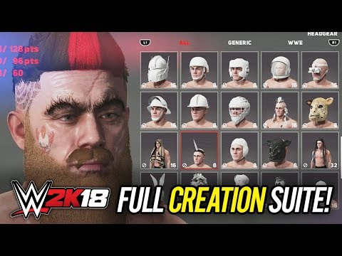 WWE 2K18 - Full Creation Suite Revealed!! (WWE 2K18 Create A Superstar Breakdown)