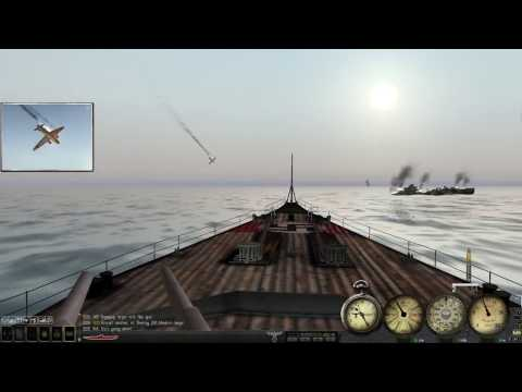 SH3 Bismarck vs task force using the Warship mod v3.0