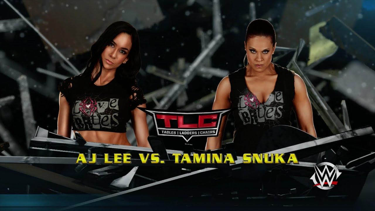 WWE 2K15 Universe TLC AJ Lee Vs Tamina Snuka Divas Championship Xbox 360PS3 YouTube