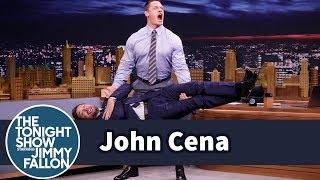 John Cena Deadlifts Jimmy Fallon