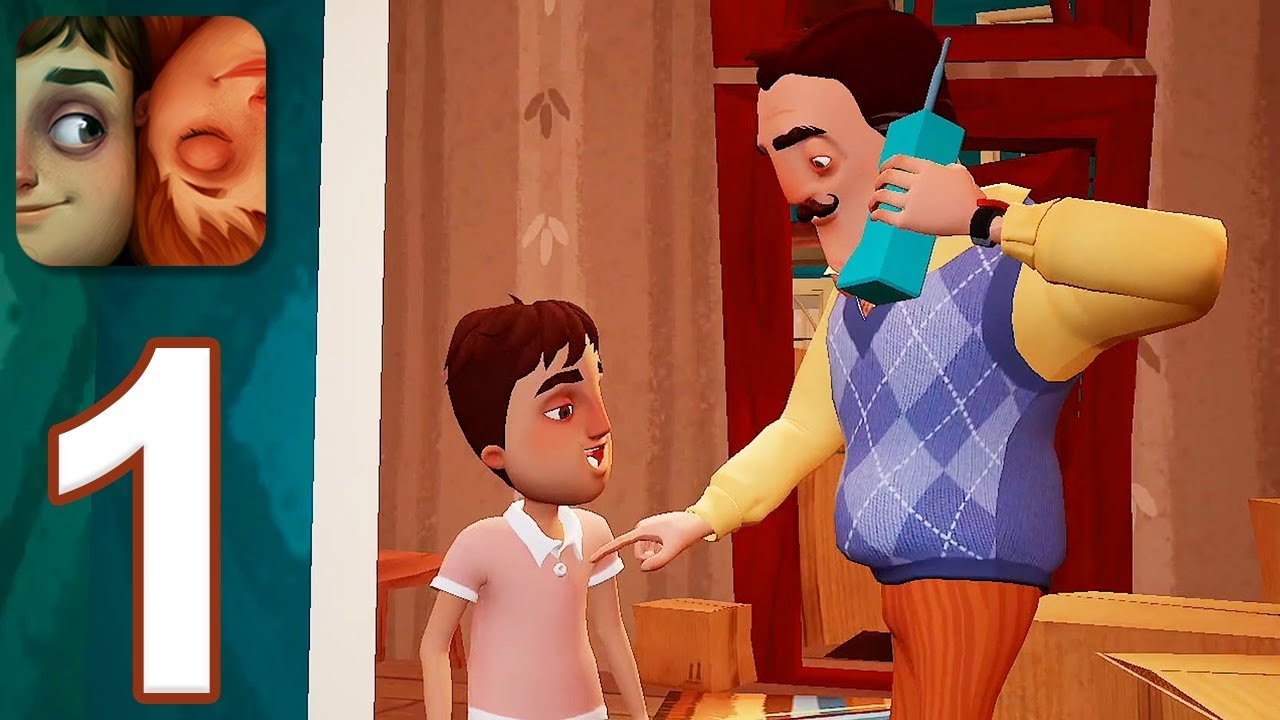 Hello Neighbor Hide & Seek BETA - Gameplay Walkthrough Part 1 - Stage 1  (iOS)