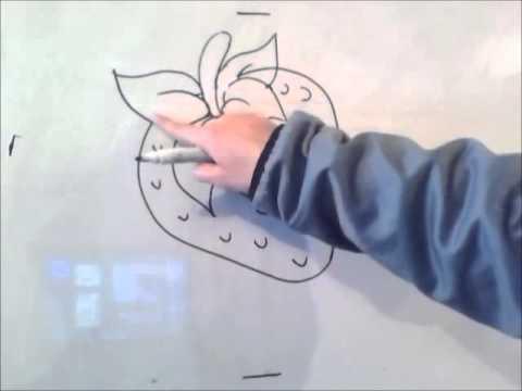 Как нарисовать листья клубники