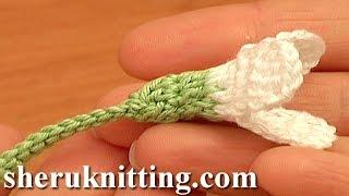 Crochet Snowdrop Flower Pattern Tutorial 75 Heegeldatud lill