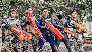 LTT Game Nerf War : Winter Warriors SEAL X Nerf Guns Fight Bandits Rocket Man Shooter