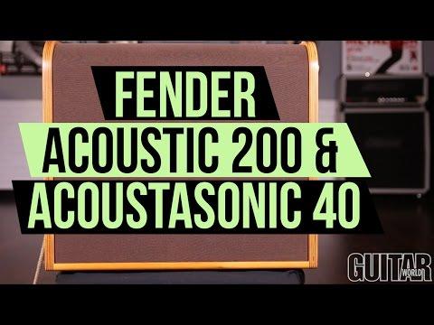 Fender Acoustic 200 & Acoustasonic 40 Amps