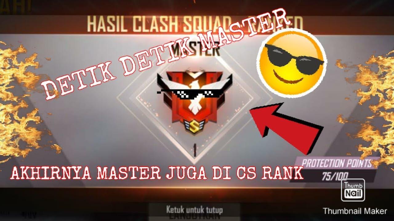 Akhirnya Master Juga Di Cs Rank Ff Youtube