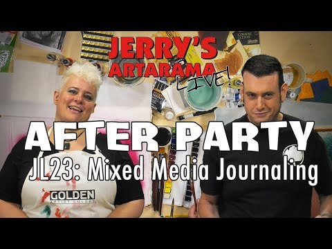 Jerry's Live After Party - Mixed Media Art Journaling (JL23)