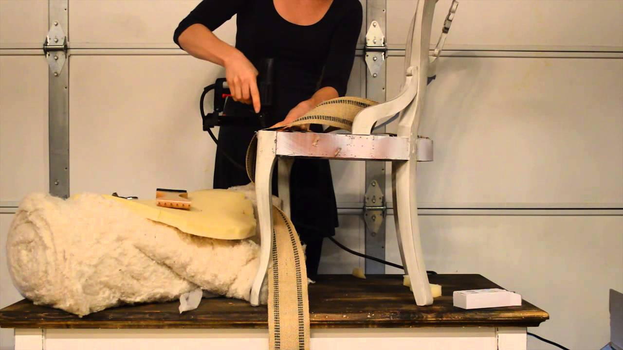 How to apply jute webbing Upholstery tutorial  YouTube