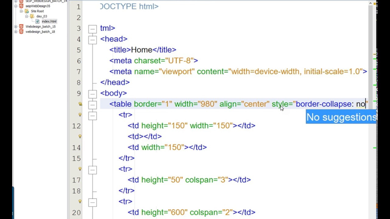 Day 03 Html Table Layout Nested Table Layout Favicon Heading Paragraph Image