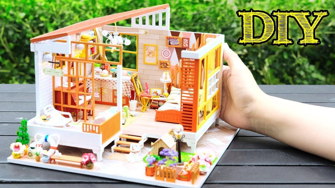 Diy Miniature Dollhouse Kit Jarest Cabinet With Full
