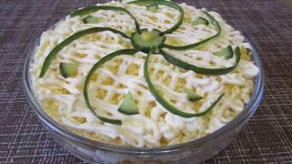 Салат за 10 минут Салат с кукурузой и крабовыми палочками