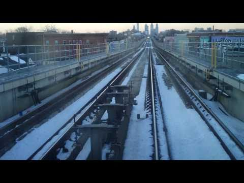 Riding from 69th Street to 13th Street in Philadelphia (subway - blue line)