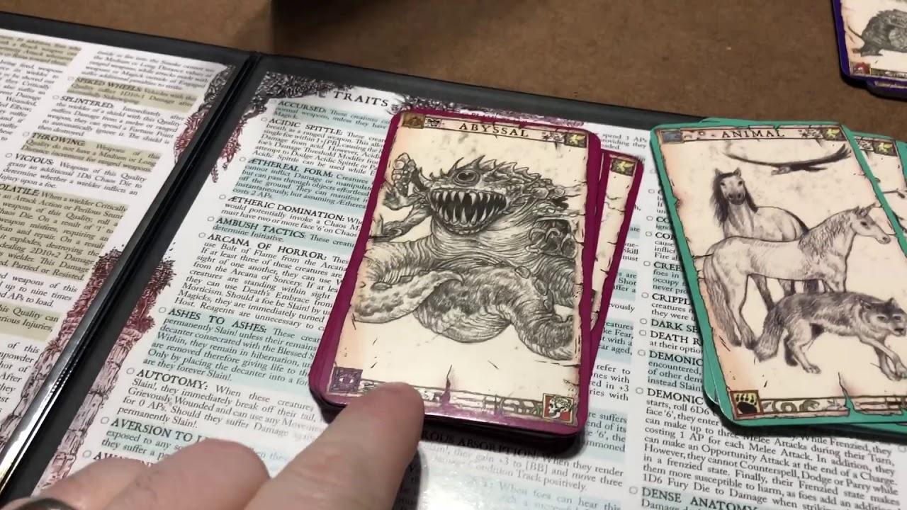 ZWEIHANDER Grim & Perilous RPG: Monster Cards - Andrews