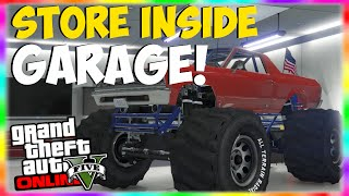 """GTA 5 Glitches: Store """"Monster Truck"""" Inside Garage! How to Store Rare Cars! """"GTA 5 Glitches 1.22"""""""
