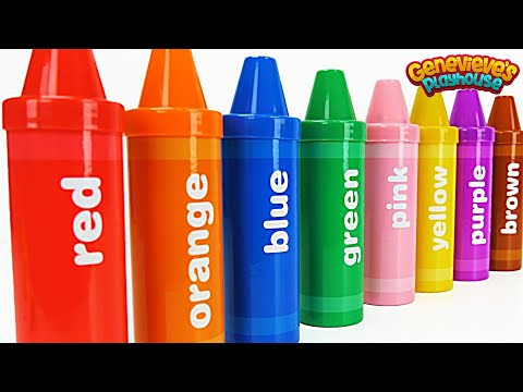 Best Learning Video for Toddlers Learn Colors with Crayon Su