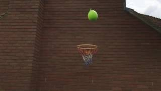 Throwing Water Balloon Bomb from Third storey Window in Slow Mo