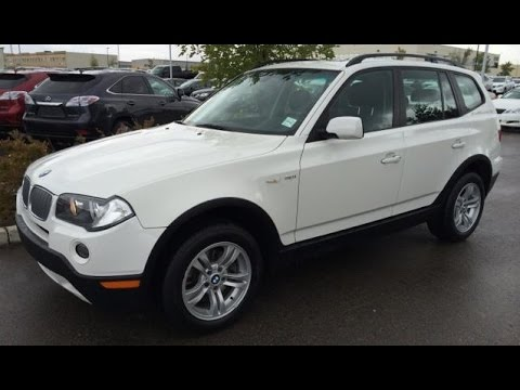 Pre Owned White on Black 2007 BMW X3 AWD 4dr 3.0i Review - Sherwood Park, Edmonton, Alberta