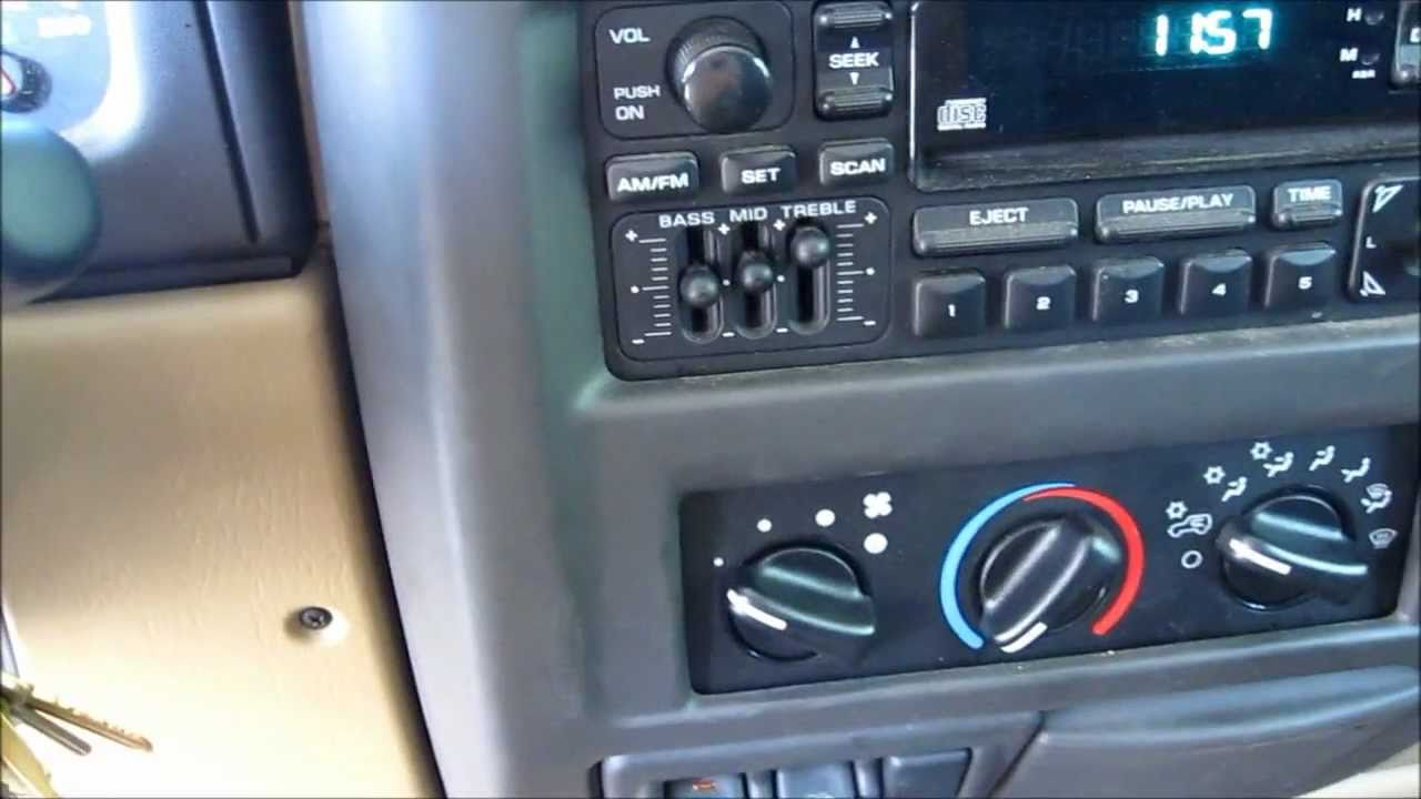 Jeep 2001 fixing the heater blower switch  YouTube