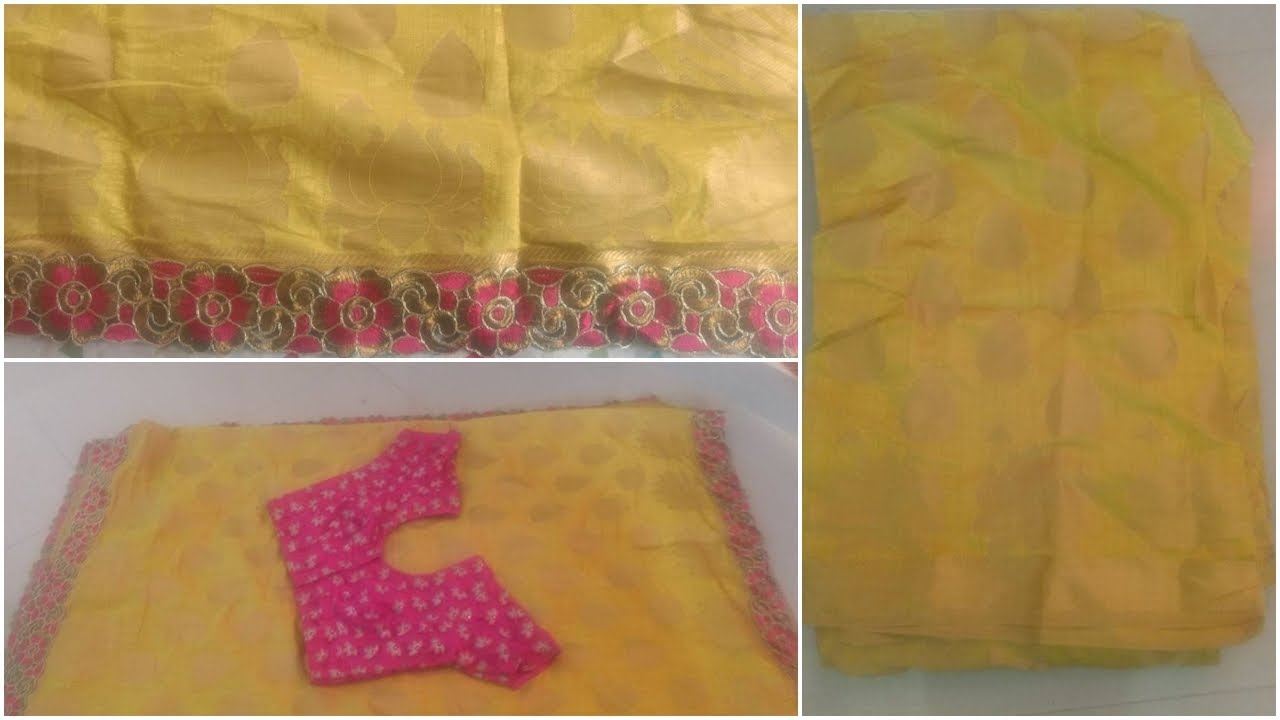 how to turn old saree into a new party wear look saree - YouTube