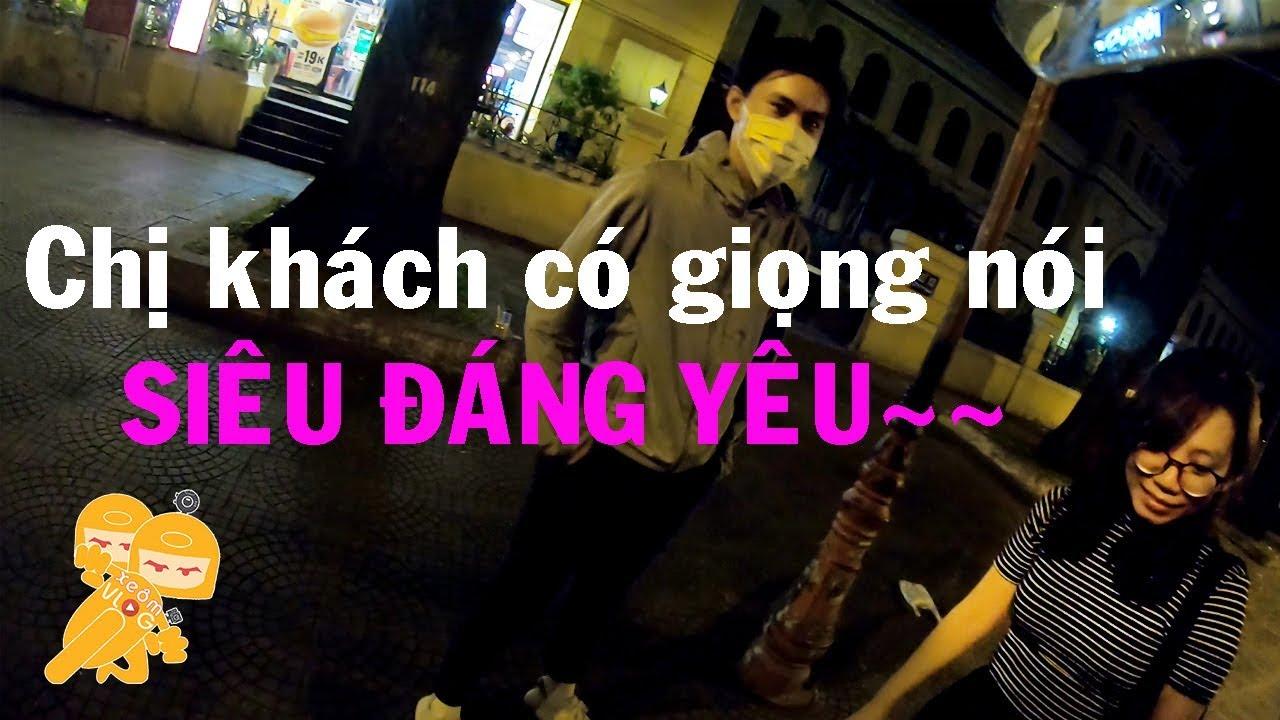Go Việt 3h sáng chở chị khách có giọng nói SIÊU ĐÁNG YÊU - Xe Ôm Vlog