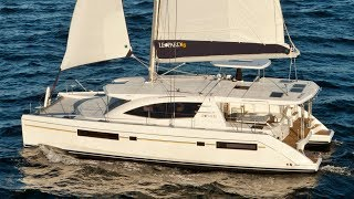 Leopard 48 catamaran Walkthrough at La Grande Motte Multihull Boatshow 2016