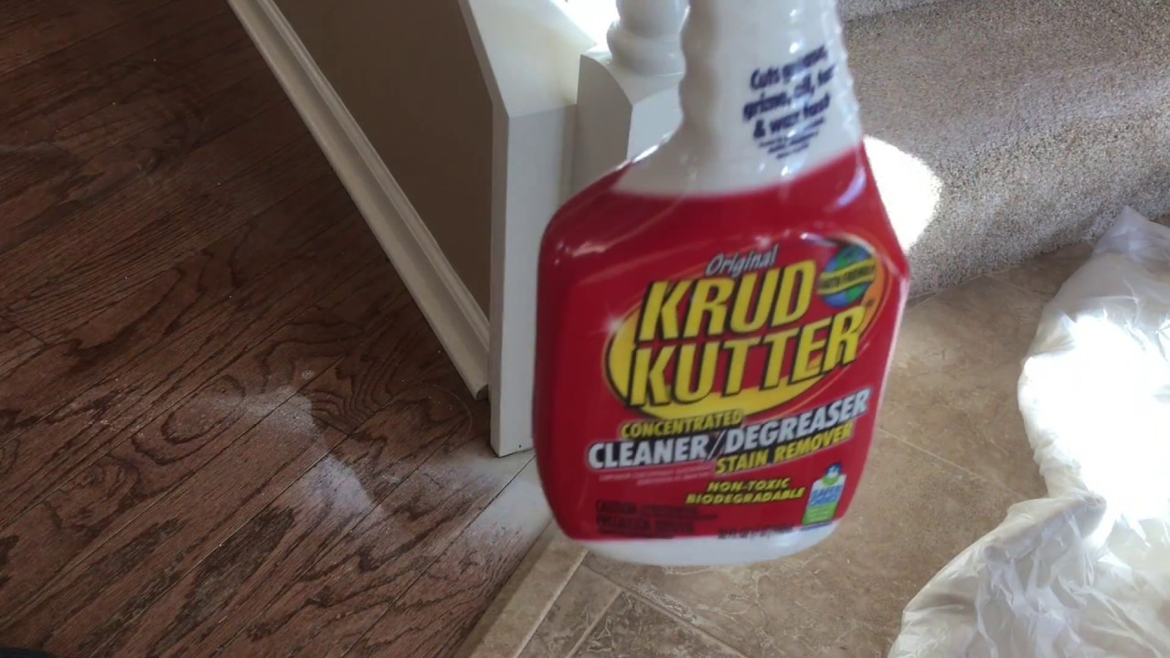 Krudkutter Is Marvelous For Cleaning Sprayed Latex Paint On Wood