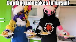 Filko and Woxy cook pancakes in fursuits [4K]