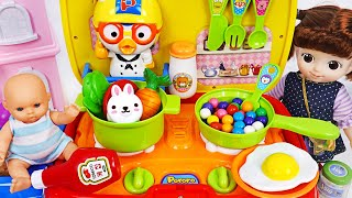 Let's Cook delicious with Pororo kitchen food car with Kongsuni | PinkyPopTOY