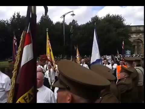 Somme centenary parade Glasgow 06/08/2016