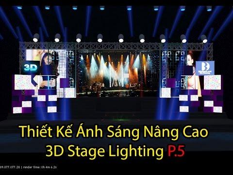Thiết kế hệ thống sáng 3D Nâng Cao P5  Stage Lighting Advance 3Dsmax Design - 3dclass.net