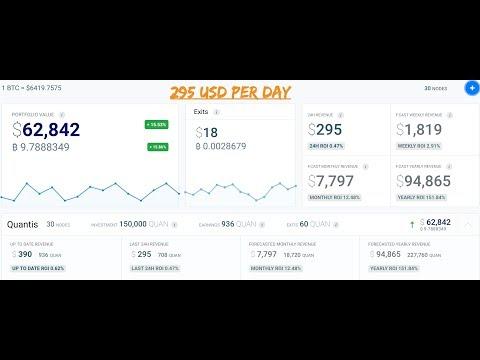 Quan Masternodes = $300 USD Per Day! - Crypto Investing - MasterTrader777