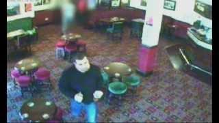 CCTV footage of Lee Erdman at the Wellington Pub in Ordsall