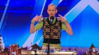 Britain's Got Talent 2018 Robert White Comedic Musician Full Audition S12E01